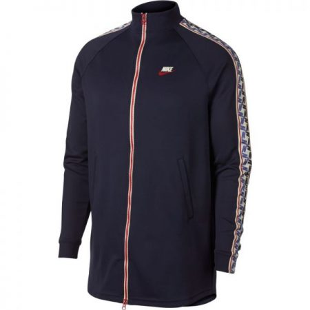 86f4fa85491e Nike NSW Taped Track Jacket Poly Obsidian Gym Red-Sail giacche