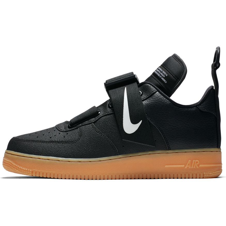 brand new d6cfb 82db8 Nike Air Force 1 Utility BlackWhite-Gum Med Brown scarpe - Sixstreetshop