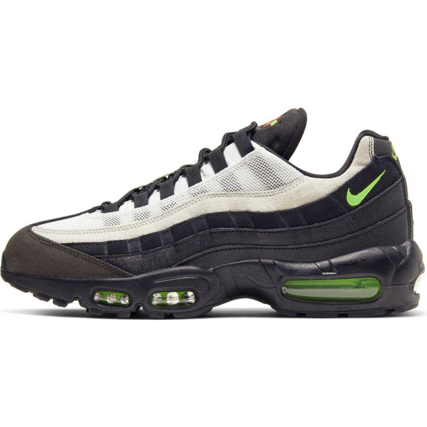 Nike Air Max 95 Essential Black/Electric Green-Platinum Tint scarpe