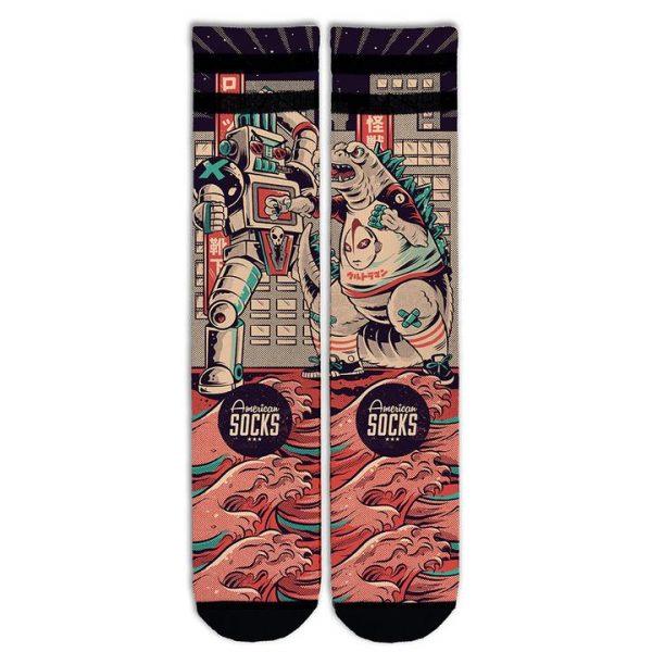 american-socks-godzilla-mid-high-calzini-sixstreet-shop-bolzano