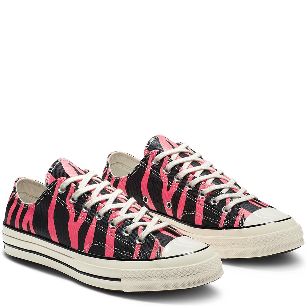 Converse Chuck 70 Archive Print Low Top BlackRacer Pink Egret scarpe