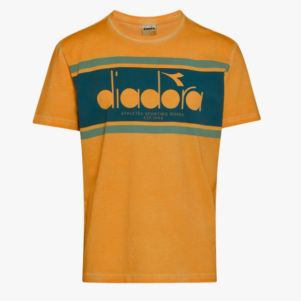 diadora-t-shirt-ss-spectra-used-orange-mustard-t-shirt-sixstreet-shop-bolzano