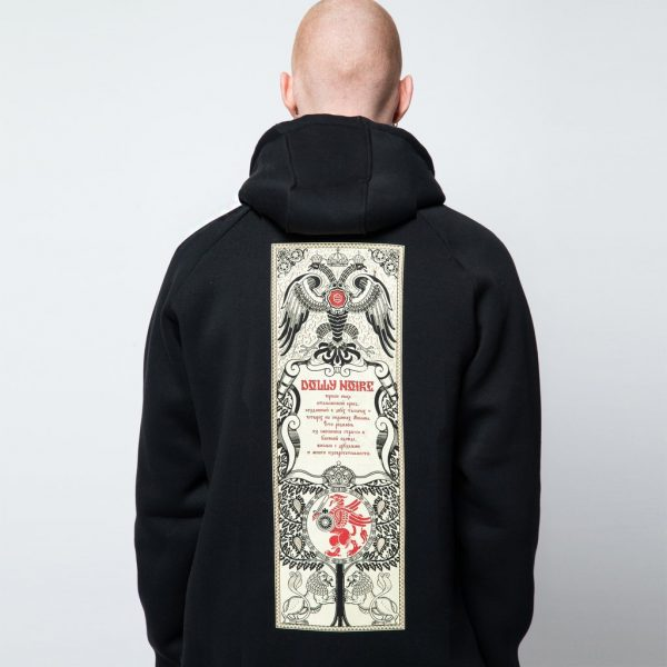 dolly-noire-ivan-zip-hoodie-black-felpe-sixstreet-shop-bolzano-roma-milano-firenze-napoli-venezia-bologna-torino
