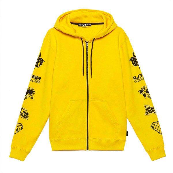 iuter-horns-2-0-zip-hoodie-yellow-felpe-sixstreet-shop-bolzano-roma-milano-firenze-napoli-venezia-bologna-torino