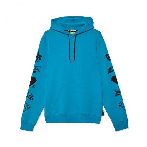 iuter-horns-hoodie-turquoise-felpe-sixstreet-shop-bolzano