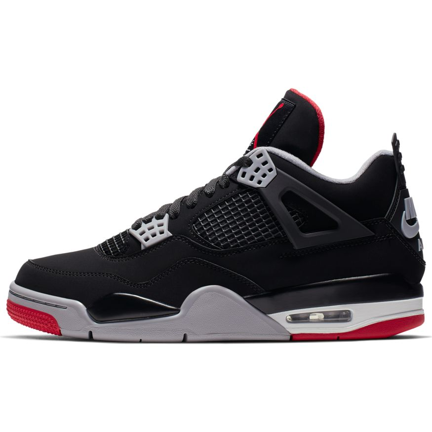 pretty nice a5ba1 be987 Jordan 4 Retro Black/Fire Red-Cement Grey-Summit White ...
