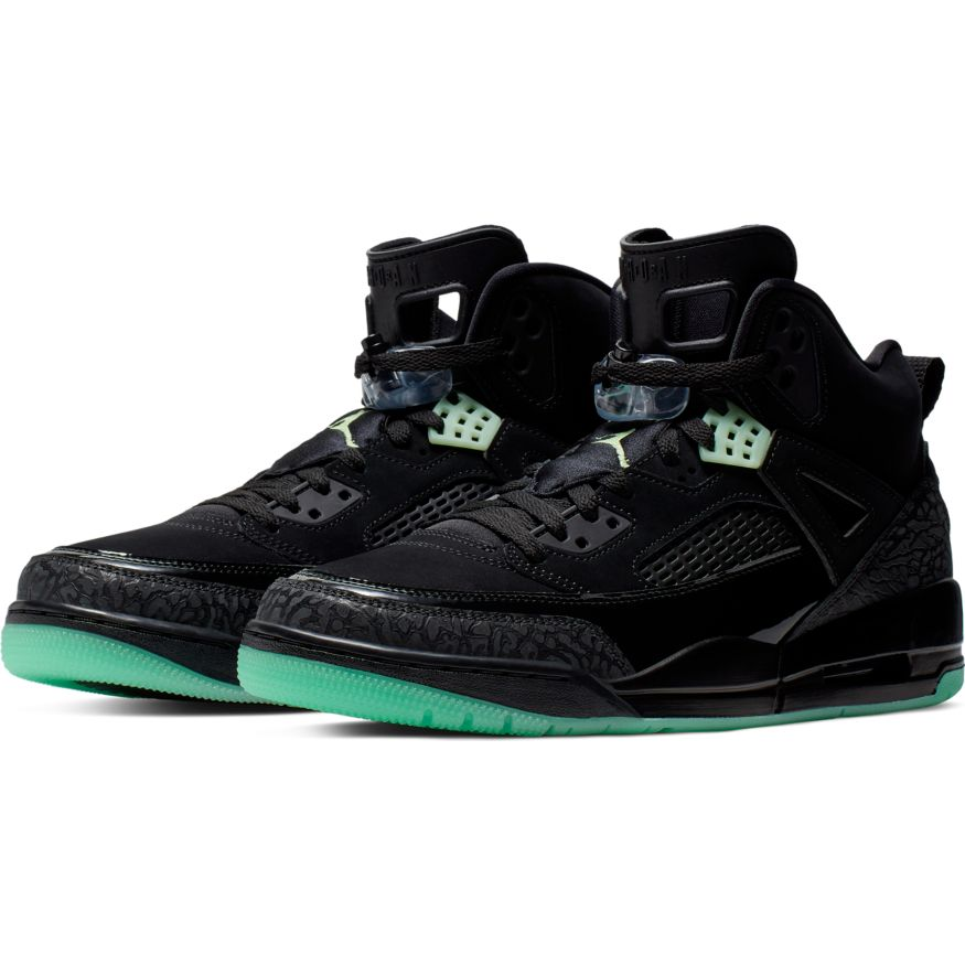 Jordan Spizike BlackGreen Glow Anthracite scarpe