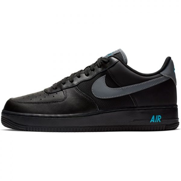 brand new 633f9 7d361 Nike Air Force 1  07 LV8 Black Cool Grey-Blue Fury scarpe