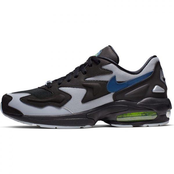 new concept f4f86 38e93 Nike Air Max 2 Light Black Thunderstorm-Wolf Grey-Volt scarpe