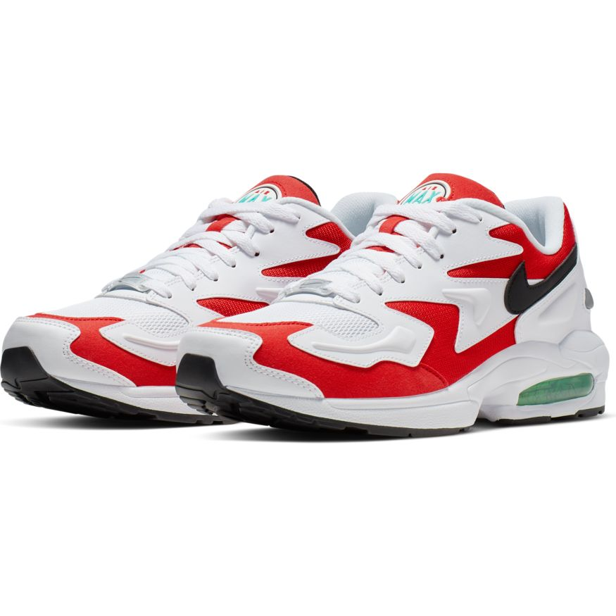 Nike Air Max 2 Light WhiteBlack Habanero Red Cool Grey scarpe