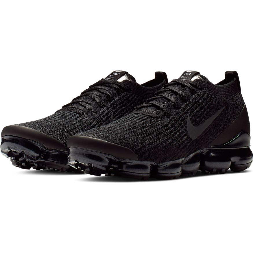 Nike Air Vapormax Flyknit 3 black white metallic silver