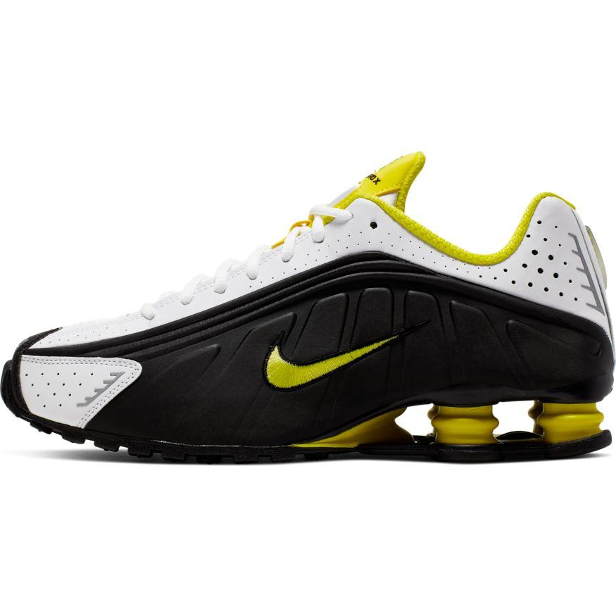 Nike Shox R4 BlackDynamic Yellow White scarpe