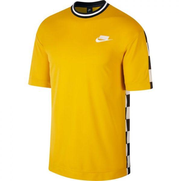 nike-sportswear-checkboard-sport-pack-tee-yellow-ochre-black-white-t-shirt-sixstreet-shop-bolzano-roma-milano-firenze-napoli-bologna-torino-venezia