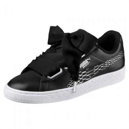780abd6f106c Puma Basket Heart Oceanaire Black White scarpe