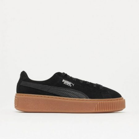 ba0de0754753 Puma Suede Platform Animal Black Silver scarpe
