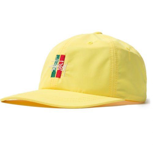 stussy-bars-logo-low-pro-cap-yellow-cappelli-sixstreet-shop-bolzano