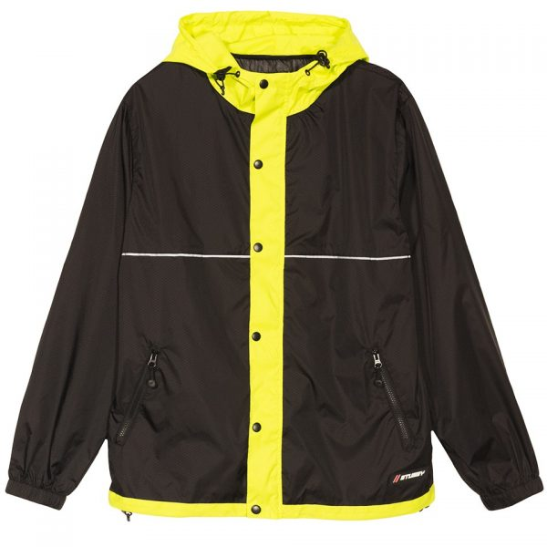 stussy-honeycomb-hooded-jacket-black-giacche-sixstreet-shop-bolzano