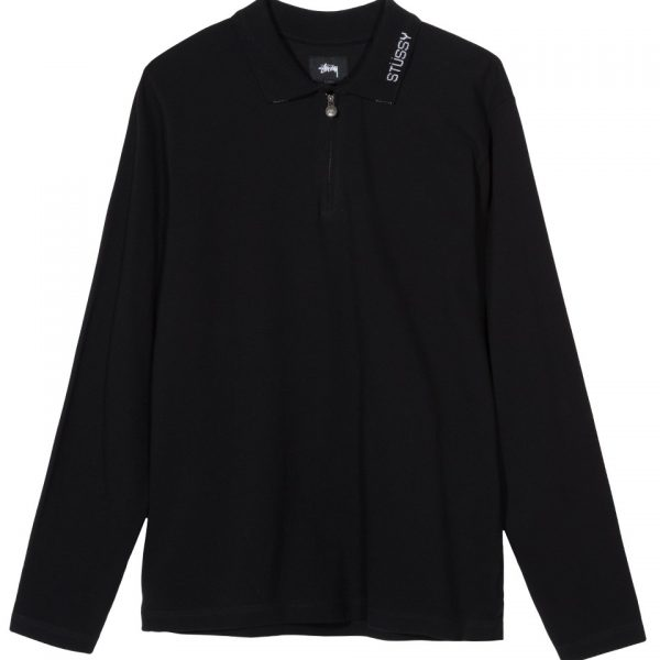 stussy-lion-l-s-zip-polo-black-t-shirt-sixstreet-shop-bolzano