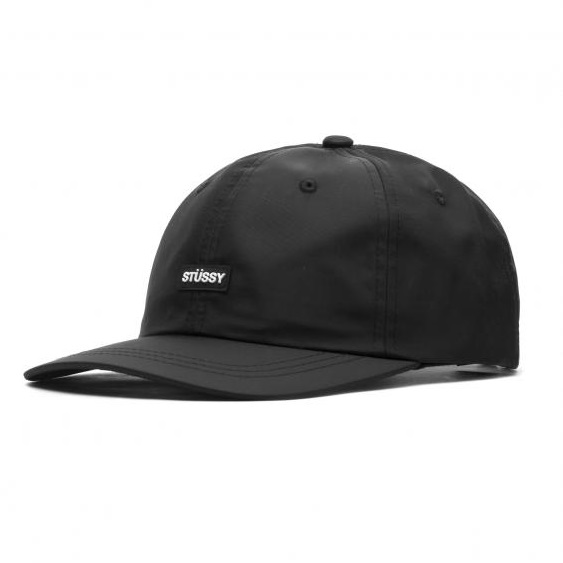 stussy-rubber-patch-low-pro-cap-black-cappelli-sixstreet-shop-bolzano