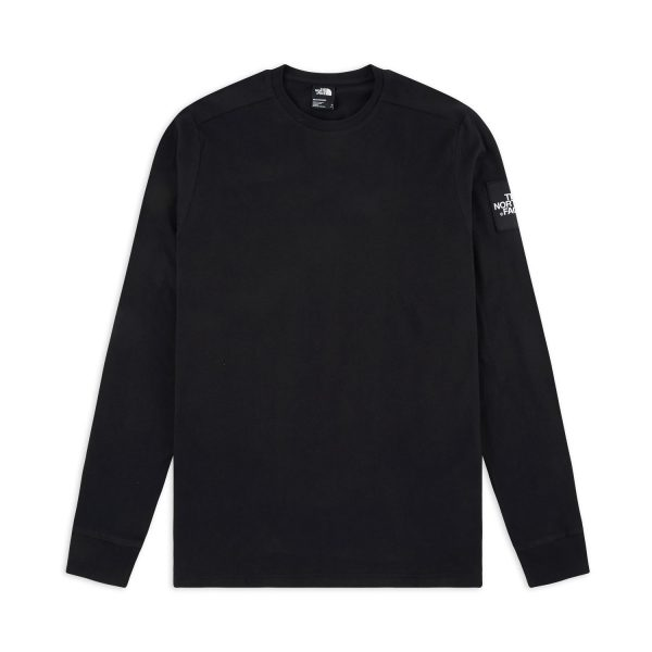 t shirt the north face fine 2 ls t shirt tnf black
