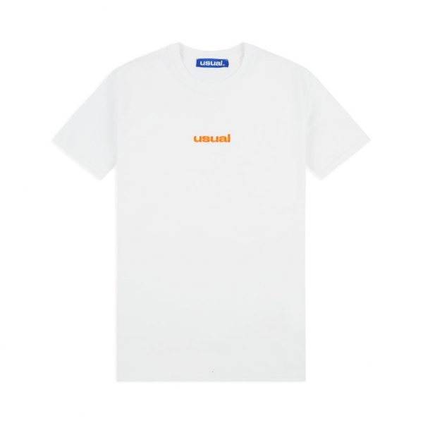 t shirt usual ugrad t shirt white orange